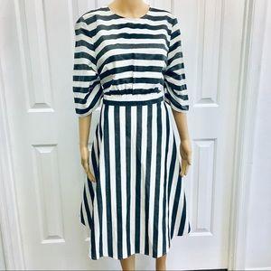 NWT Who What Wear Stripy a line dress L